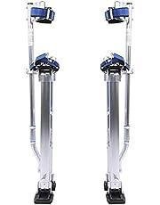 Zancos de Trabajo,para yeseros jardineros o para pintar,Zancos de Paneles de Yeso de Aleación de Aluminio Profesional Ajustable,20-40 Pulgadas(plata)