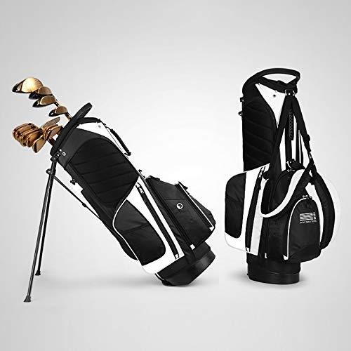 MYHH PGM tragbare Nylon Golf Stand Bag (schwarz weiß). (Color : Black White)