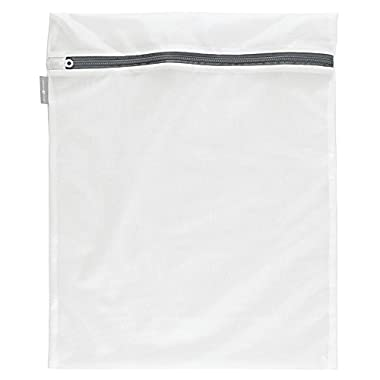 InterDesign Mesh Laundry Bag for Delicates in-Wash Cleaning-Bras, Underwear-Large, White