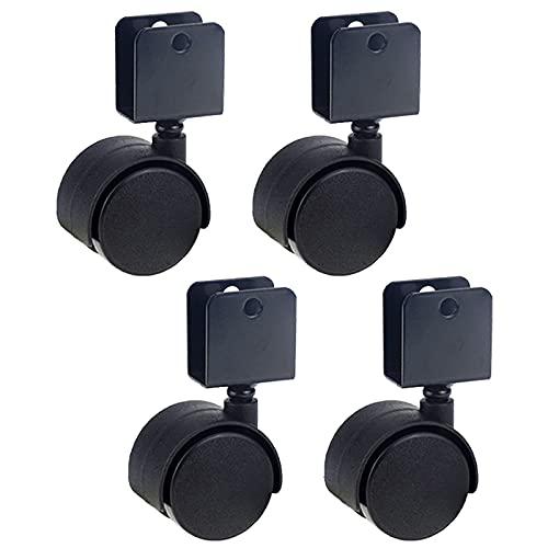 GYFDC 4 Ruedas de férula en Forma de U,Ruedas universales de Carro,Ruedas giratorias Negras de 360 ° para Soporte de Flores,Bandeja,Mesa,cajón,Cuna (30 mm,40 mm,50 mm)
