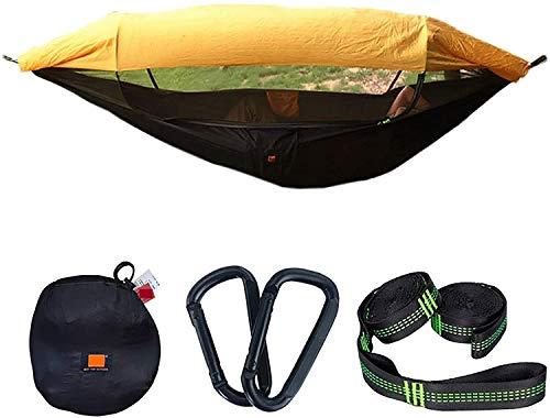 GANG Paño de Paracaídas Anti-Mosquito Sombrilla con Haa de Mosquitero Outdoor Late Outle Double Off Off Aeroial Tent Tree Switled Bed For Garden Yard Beach, Orange, 250X1 20 Portátil
