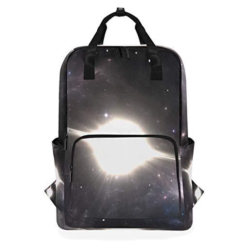 ZOMOY Rucksäcke,Supernova Explosion,Neue lässige Laptop leichte Tagesrucksack Leinwand College School Travel Umhängetasche Camping Klettern Wandern Taschen