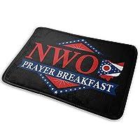 NWO New World Order Prayer Breakfast カーペット フロアマット 多機能 滑り止め付 足元マット ルームマット 子供の寝室の家の装飾屋内と屋外の正面玄関マットとバ キッチンマット