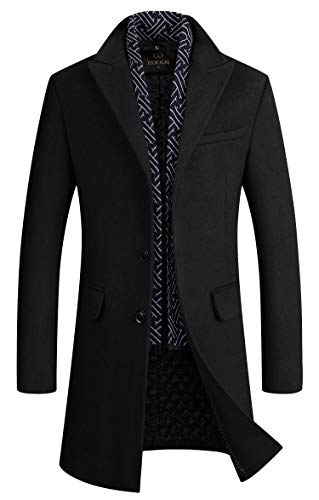 Mens Wool Coats Slim Fit