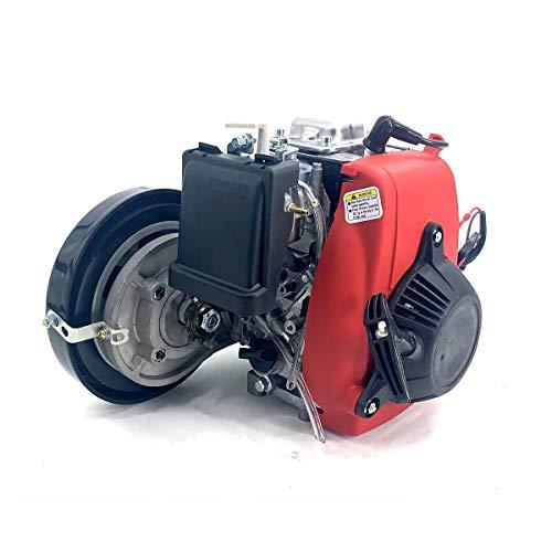 HOTSTORE 4 Stroke Bicycle Engine Kit, 49CC Engine Motorized Bike Kit, Petrol Conversion Kit Air Cooling Motorized Engine Bike Kit for 26 inch Frame Adult Bicycles