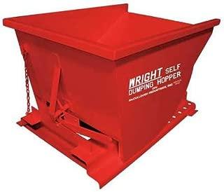 Self Dumping Hopper, 4000 lb., Red
