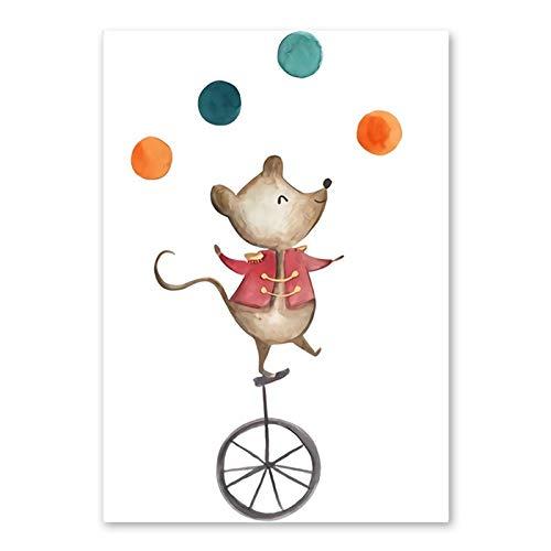 Kfbtbh Animales de Circo creativos Oso Elefante ratón Monta