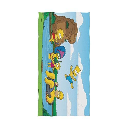 Jesse Tobias Cartoon Die Simpsons Badetuch Strandtuch Übergroße Verwendung als Yoga Travel Camping Gym Pool Handtücher am Strand Cart Beach Stühle