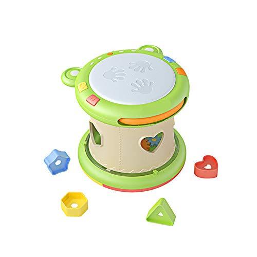 Baby muzikaal speelgoed, elektronische druminstrumenten met licht en geluid, vroege educatieve ontwikkeling liedjes cadeau voor zuigelingen, peuters, jongens, meisjes