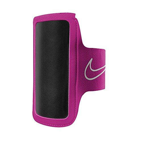 Nike - Fascia per braccio con porta-cellulare 2.0 (Taglia unica) (Rosa/Argentato)