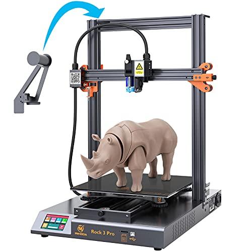 MINGDA Impresora 3D 95 % premontada con plataforma de cristal, motor BMG TMC2208 Silent Printing, 320 x 320 x 400 mm (Rock3Pro)