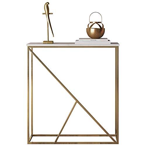 Mesas YANFEI, Mesa de mármol para Porche, Mesa de Porche Moderna, Mesa Larga de Porche, Blanco