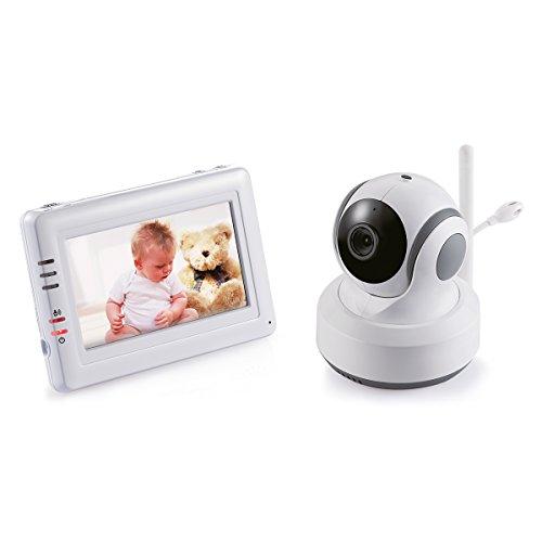 Switel BCF989 Video Babyphone, 11cm Farb Touchscreen, bewegliche Kamera, automatische Bewegungsverfolgung, Zoom, Sprachaktivierung