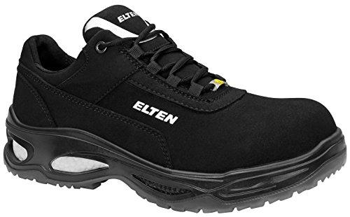 ELTEN Sicherheitsschuhe MILOW Low ESD S2, Herren, sportlich, leicht, schwarz, Kunststoffkappe - Größe 42