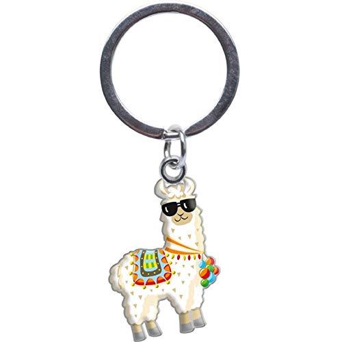 Sheepworld - 46829 - Mini Schlüsselanhänger, No Drama Lama, Metall, Kunststoff, 10cm x 5cm