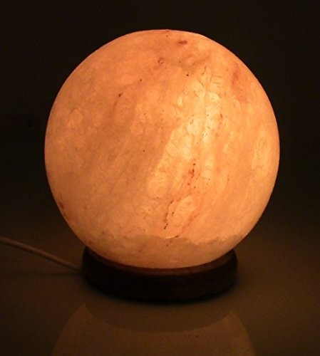 lampada di sale himalaya forma di sfera