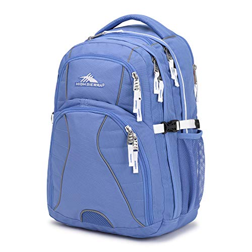 High Sierra Swerve Laptop Backpack, Lapis/White, 19 x 13 x 7.75-Inch