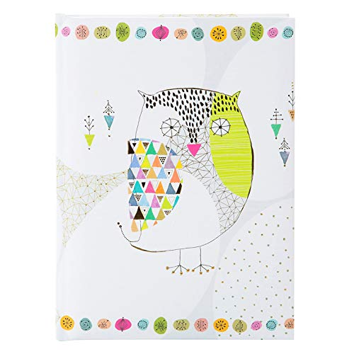 goldbuch Freundebuch, Mosaic Owl, DIN A5, 88 illustrierte Seiten, Kunstdruckpapier mit Relief, Bunt, 43400