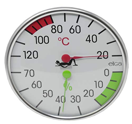Preisvergleich Produktbild Eliga Klimamesser (Thermo- und Hygrometer) 128 mm,  386 g