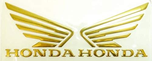 Große Größe 90x70mm Gold Flügel Motorrad Abzeichen Emblem Motorrad Kraftstofftank Aufkleber