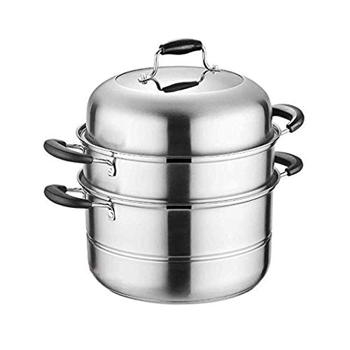 WANGIRL Vaporizador de Acero Inoxidable doméstico, Pan Grueso sin Recubrimiento de Doble Capa, fácil de Limpiar, Adecuado para Todas Las cocinas de inducción LOLDF1