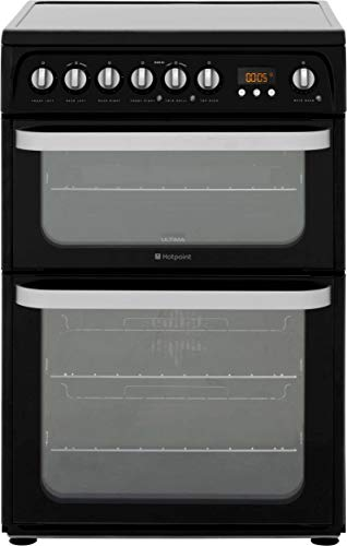 Hotpoint HUE61KS Freestanding Electric A/A Rated Cooker -Black
