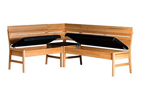 Amazon Marke –Alkove – Hayes – Massivholzeckbank mit gepolsterter Sitzfläche, Kernbuche - 7