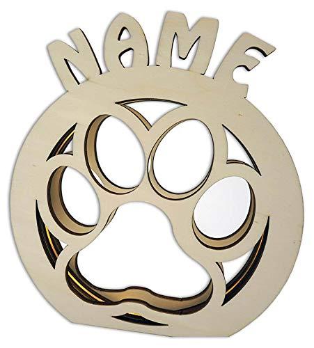 Hundepfote Tischlampe Tischleuchte Nachtlicht Geschenk zum Geburtstag Hunde-Liebhaber