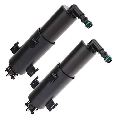 Create Idea 2pcs Pompe de Buse Lave-phares Nettoyage Gauche Droite Lampe Frontale Voiture 61677179311 61677308526
