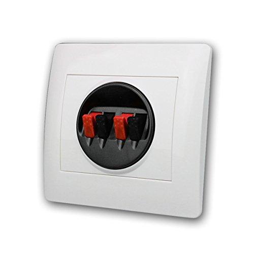Dynavox Wandterminal für Lautsprecher an Schalterdose für Unterputzmontage, Weiß