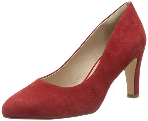 Caprice Damen Isabella Pumps, Rot (Red Suede 524), 38.5 EU