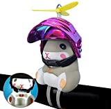 Lucakuins Cartoon Bicycle Bell Light, Cute Hamster with Helmet Handlebar Glowing Horn for Bicycles, Motorbike Decor (red)