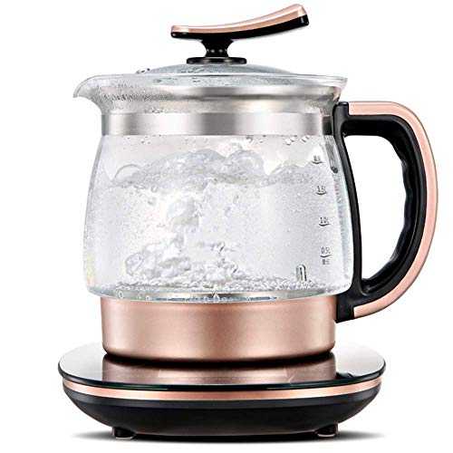 LZZB 2L Glass Electric Kettle, Cordless Tea, tatic Water Kettle with Adjustable Temperature Kettle with Strainer, Auto Shut-Off and Boil-Dry Protection,1200W