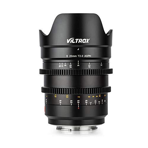 VILTROX S20mm T2.0シネマレンズ 映画撮影用単焦点レンズ フルサイズ 広角 プライムレンズ SONY ソニー Eマウント用 マニュアルフォーカス A7 A7III A7RIII A7RII A7II A9 A6500 A6300 A6000