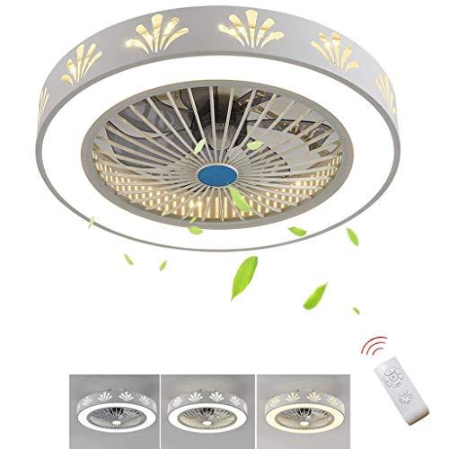 Smotly moderne led-kroonluchter, dimbaar met stille afstandsbediening kroonluchter, decoratieve plafondventilator voor woonkamerverlichting