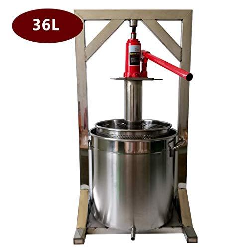 GBX Máquina para hacer bebidas en el verano Prensa mezcladora-grande 36 litros, aluminio pulido de grado alimenticio con prensa de acero inoxidable, para hacer vino y sidra,36L