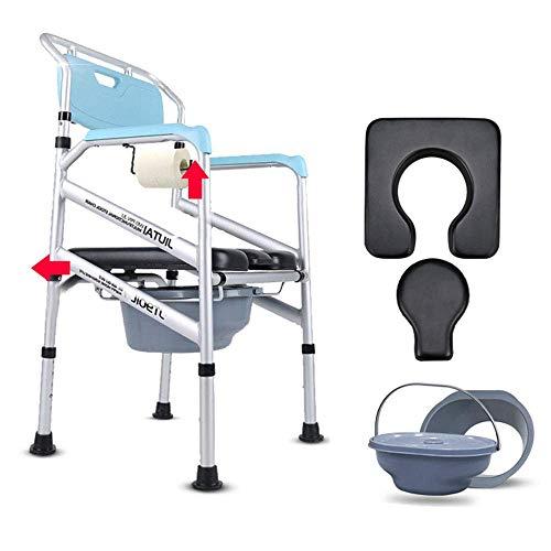 Z-SEAT Cómoda Plegable/Silla para Ducha - Asiento XL Suave y Estable con Respaldo Abierto, apoyabrazos Resistente al Agua, Altura Ajustable