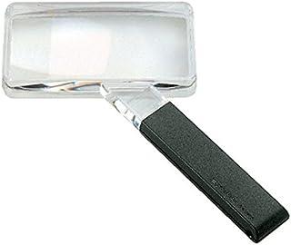 Biconvex Leselupe [Eschenbach 2642150] PXM® Leichtlinse, DUPLEX beschichtet für randscharfe, verzeichnungsfreie Abbildung, Abmessungen Linse: 100 x 50 mm, Vergrößerung: 2x, Dioptrie: 3,9