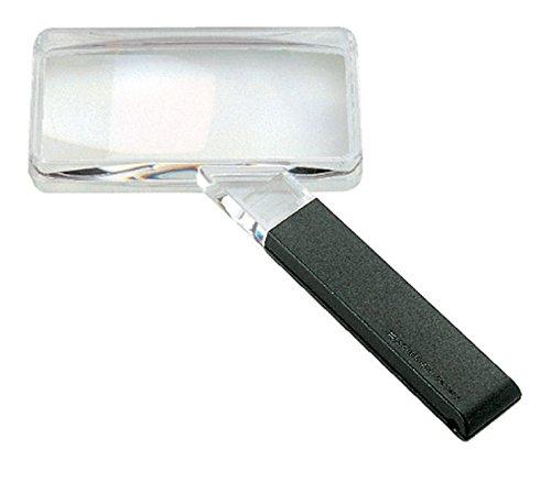 Biconvex Leselupe [Eschenbach 2642150] PXM®-Leichtlinse, DUPLEX-beschichtet für randscharfe, verzeichnungsfreie Abbildung, Abmessungen Linse: 100 x 50 mm, Vergrößerung: 2x, Dioptrie: 3,9