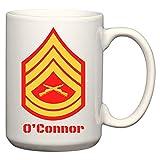 N\A Tazza da caffè/Cacao in Ceramica con insegne di Grado Personalizzabili del Corpo dei Marines degli Stati Uniti
