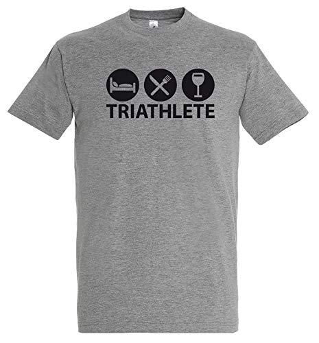 Boutique KKO – Camiseta humorística Triatlete gris multicolor 3XL