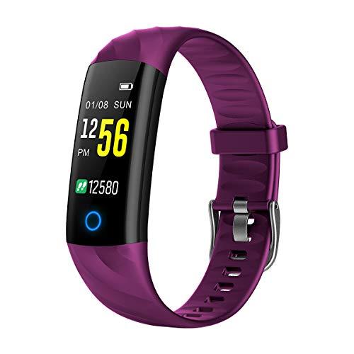S5 Smart Band Fitness Tracker Pulsmesser Smart Armband Blutdruck Sauerstoff Farbe Bildschirm Wasserdicht Anruf Erinnerung Uhr (Lila)