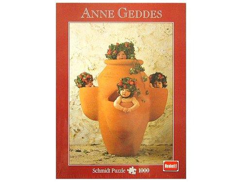 Schmidt Spiele - Anne Geddes, Erdbeertöpfchen, 1000 Teile Puzzle
