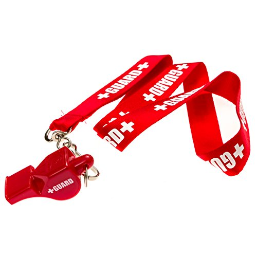 BLARIX Guard Whistle and Lanyard with Print (Red and Red)