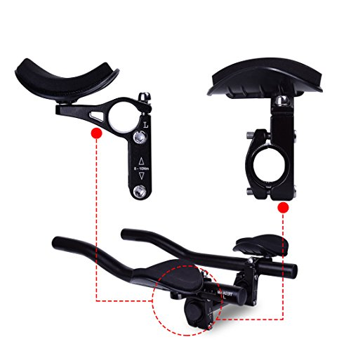 Hotusi Bicycle TT Handlebar Aero Bars Triathlon Time Trial Tri Cycling Bike Rest Handlebar for Bicycle Aerobars Mountain Bike or Road Bike