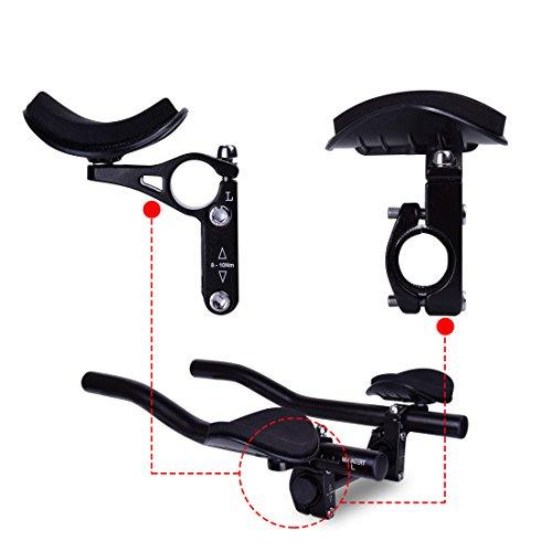 Acople de manillar TT de Hotgod, para triatlones, para bicicletas de montaña o carretera, manillar con apoyo para descansar