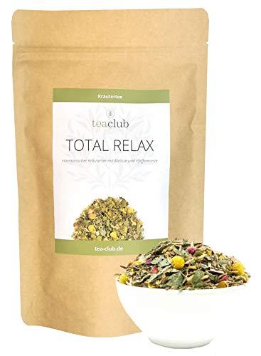 Total Relax Basischer Kräutertee Lose 100g, Kräuter Tee Mischung mit Minze Melisse Kamille Lavendel, TeaClub Herbal Tea