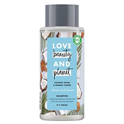 Love Beauty and Planet Volume & Bounty Champú agua de coco & flor de mimosa 400ml
