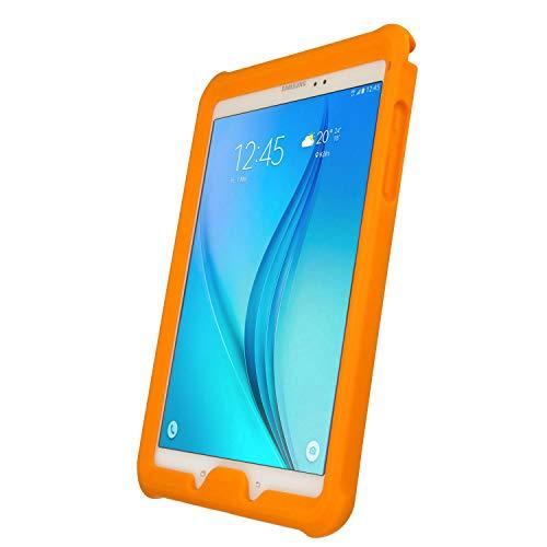 TECHGEAR Coque Bumper pour Samsung Galaxy Tab A 9.7 (Séries SM-T550 & SM-P550) Coque de Protection Caoutchouc Résistante aux Chocs avec Bords et Coins Renforcés + Film de Protection [Orange]