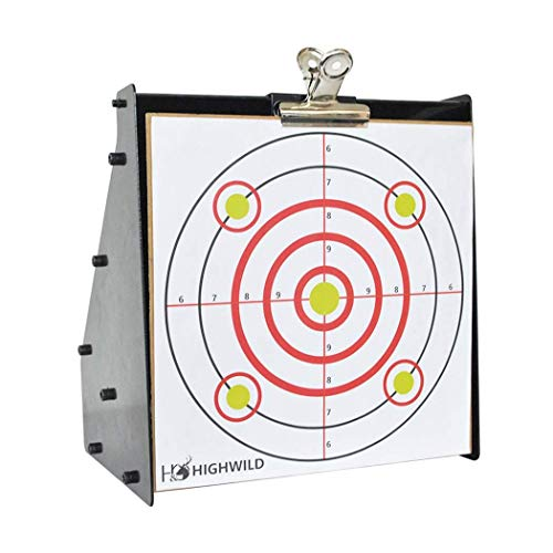 "Highwild Paper Targets - 50 Pack - 10"" x 10"" - Multi Color - Bullseye Shooting Fits Bullet Traps Metal Box BB Catcher Target Holder Pellet Trap for Air Rifle/Airsoft Pistol"